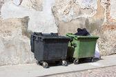 Old bins — Stock Photo
