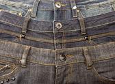 Three pair of jeans — Stock Photo