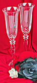 Two glasses on red background — Стоковое фото