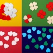 Set of  hearts - Stock Photo