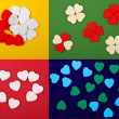 Royalty-Free Stock Photo: Set of  hearts