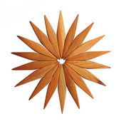 Wooden trivet on a white background — Stock Photo