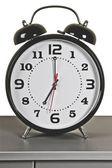 Black alarm clock: seven o'clock — Foto Stock