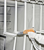 Powder coating sprayer — Stock Photo