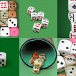 The set of dices (6 in 1) — Stock Photo