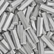 Stock Photo: Background: pile of metal details