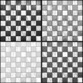 4 šachovnicích hrají — Stock fotografie