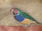 Vogelzeichnung auf Mauerwerk — Foto de Stock