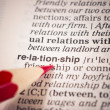 Foto Stock: Relationship word meaning