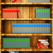 Stock Photo: Bookshelf