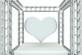 Heart on stage — Stock Photo