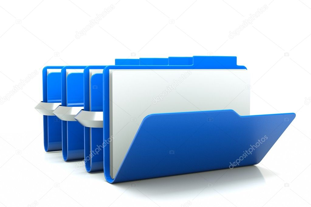 A  open folder with close folders on white — Stock Photo #8797389