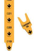 поверните билеты - свяжитесь с нами концепция — Cтоковый вектор