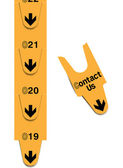 Turn tickets - contact us concept — Stock vektor