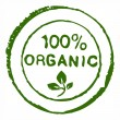 Hundred percent organic stamp — Stock Photo