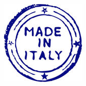 Made in italy stamp — Stock Photo