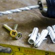 Detail of construction tools — Stock Photo