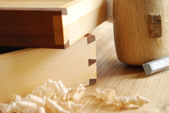 Dovetailed joint — Stockfoto