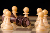 Checkmate with pawns — Stock Photo