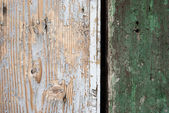 Wrinkled wooden planks background — Stock Photo
