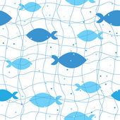 Seamless pattern of fish — Stock Vector