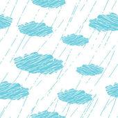 雨のシームレスなパターン — ストックベクタ