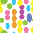 Seamless pattern of balloons - Stock Vector