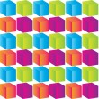 Abstract background with colorful cubes — Stock Vector