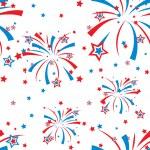 Festive fireworks display seamless background — Stock Vector #10537632