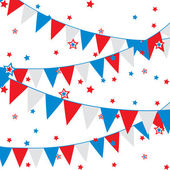 Vector background with festive flags — Vettoriale Stock