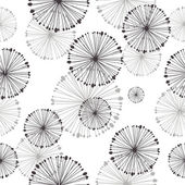Seamless pattern of dandelion — Vecteur