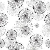 タンポポのシームレスなパターン — ストックベクタ