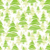 Seamless pattern of green trees — Stock Vector