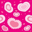 Pink hearts — Stock Vector