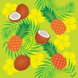 Stock Vector: Tropical pattern