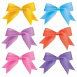 Colored bow — Stockvectorbeeld