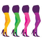 Legs in pantyhose — Stock Vector