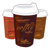 Cups of coffee — Stock Vector