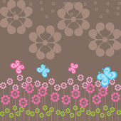 Vector background with flowers — Vettoriale Stock