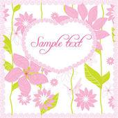 Cartão de vetor com flores — Vetor de Stock