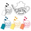 Stock Vector: Tea time