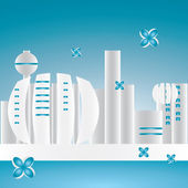 City ​​of the Future — Stock Vector