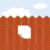 Vektör ahşap çit — Stok Vektör