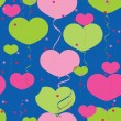 Balloons heart pattern - Stock Vector