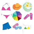 Stock Vector: Beachwear