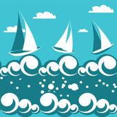 Gemi seamless modeli — Stok Vektör