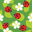 Vector pattern ladybug — Stock Vector