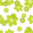 Seamless green pattern - Stock Vector