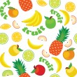 Vector Fruit Pattern — Stock Vector
