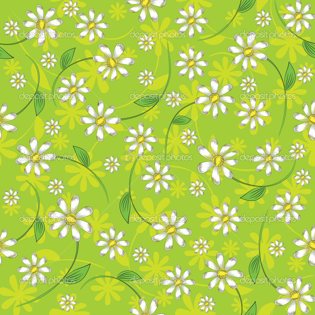 Seamless floral background  Stock Vector #9423213